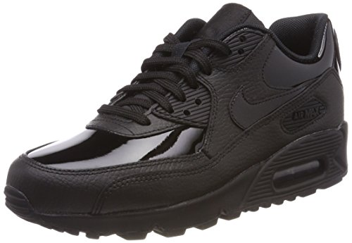 Nike Damen Wmns Air Max 90 Leather Gymnastikschuhe Schwarz (Black Black Black 002)