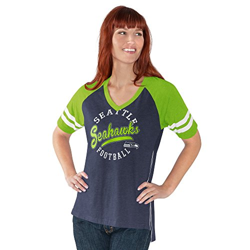 Seattle Seahawks V-Neck Morgan T-Shirt (V-neck Hawk)