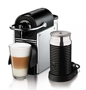 Nespresso Pixie  EN125SAE DeLonghi  - Cafetera monodosis (19 bares, Apagado automático, Sistema calentamiento rápido)