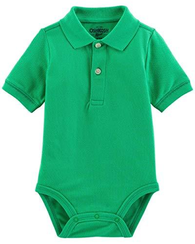 OshKosh BGosh Baby Boys Short Sleeve Polo Bodysuit (9-12 Months, Green)