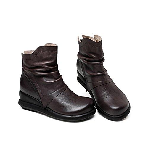 Damen Retro Herbst Modische 35 Stiefeletten Martin Größe Reißverschluss Große Schuhe Damen Stiefel Winter Slope Neue 40 Freizeit UZUxw8qzrE