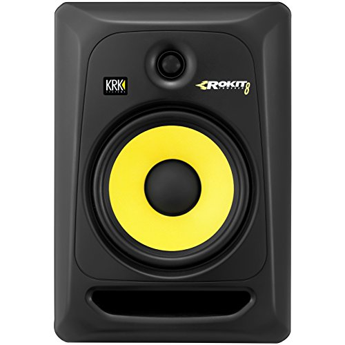 KRK RP8-G3 Rokit Active 8' Inch Studio Reference Monitor - Latest Gen With Updated Bi-Amped Class A/B Amplifier For Higher Performance at Lower Distortion