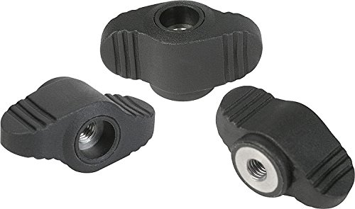 Kipp 06652-10A2 Mini Wing with Continuous 1//4-20 Internal Thread 28 mm Diameter Steel Bushing Inch Pack of 10