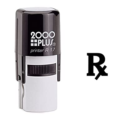 Amazon Rx Medical Symbol Self Inking Rubber Stamp Black Ink
