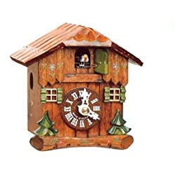 Beautiful House Design Cuckoo Clock with One Day Movement 5.4 Inch