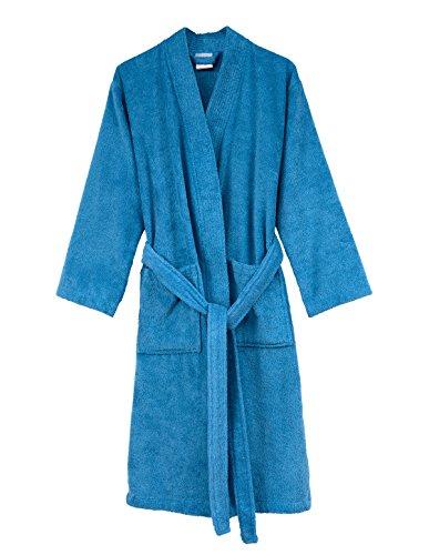 TowelSelections Men's Robe, Turkish Cotton Terry Kimono Bathrobe Large/X-Large Heritage (Terry Kimono)