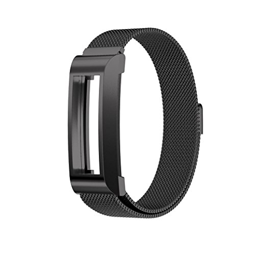 For Fitbit Alta HR Smart Watch ,Outsta Stainless Steel Watch Band Wrist strap Black by Outsta