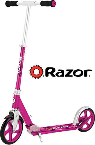 Razor A5 LUX Kick Scooter - Pink - FFP - 13013262 (Girls Purple Electric Scooter)