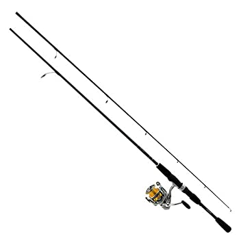 Daiwa REV25-4BI G662ML Revros Freshwater Spinning Combo, 4Rb 1Rb Bearings, 6 6 Length, 2Piece Rod, Medium Light Power