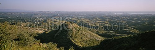 High angle view of hills, Aravalli Range, India Gallery-Wrapped Canvas