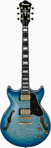 Ibanez Artcore Expressionist AM93QM - Jet Blue Burst for sale  Delivered anywhere in USA