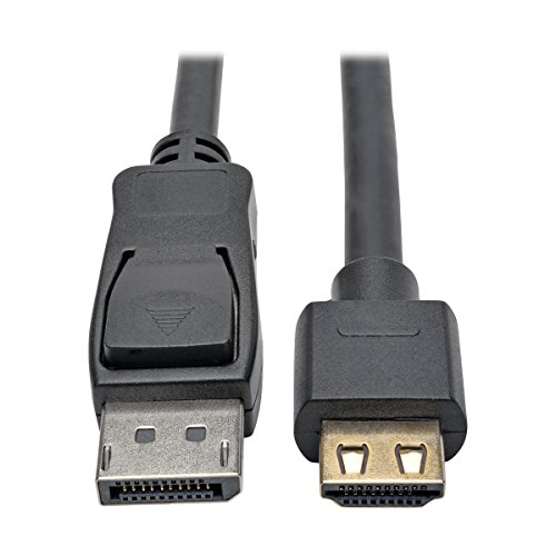 Tripp Lite DisplayPort 1.2a to HDMI Adapter Cable, Active with Gripping HDMI Plug M/M DP 4K, 20 (P582-020-HD-V2A)