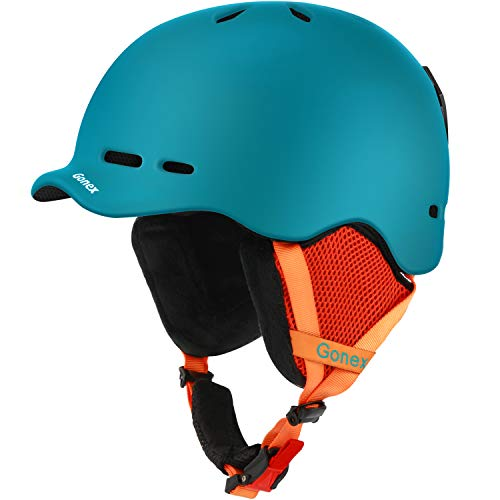 Gonex Ski Helmet, Snow Snowboard Helmet with Detachable Inner Padding, Lightweight Helmet for Women & Young Size L Peacock Green