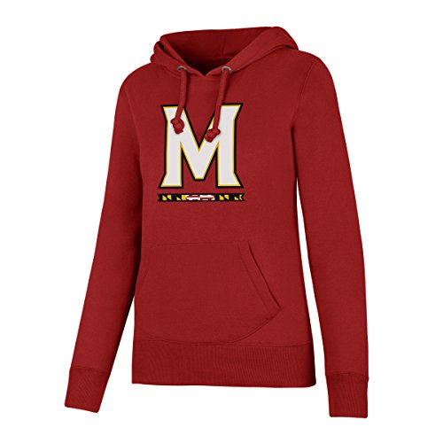 Maryland Terps Ncaa Hoody - NCAA Maryland Terrapins Women's Ots Fleece Hoodie, X-Large, Red