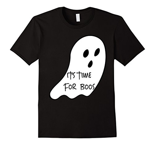 Mens It's Time For Boos Funny Halloween 2017 Drinking T-Shirt XL Black (Halloween Time 2017)