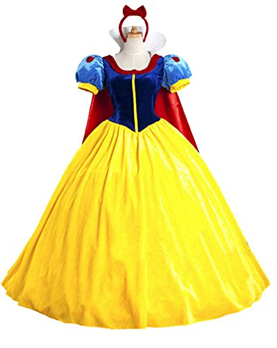baycon Halloween Classic Deluxe Princess Costume Adult Queen Fairytale Dress Role Cosplay for Adult Large