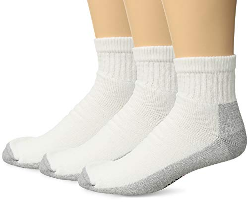Socks Wigwam Quarter - Wigwam Men's At Work Quarter 3-Pack White/Sweatshirt Grey X-Large