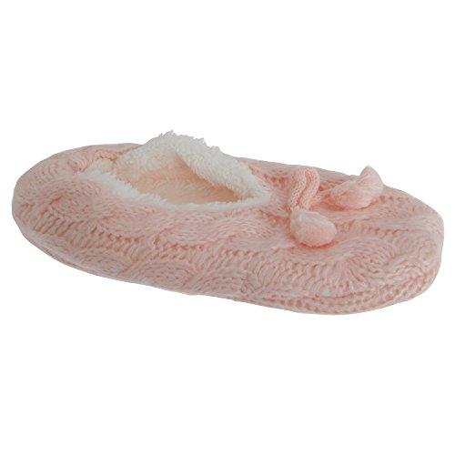 Foxbury Womens / Ladies Classic Pantofola In Lana Soffice Blu