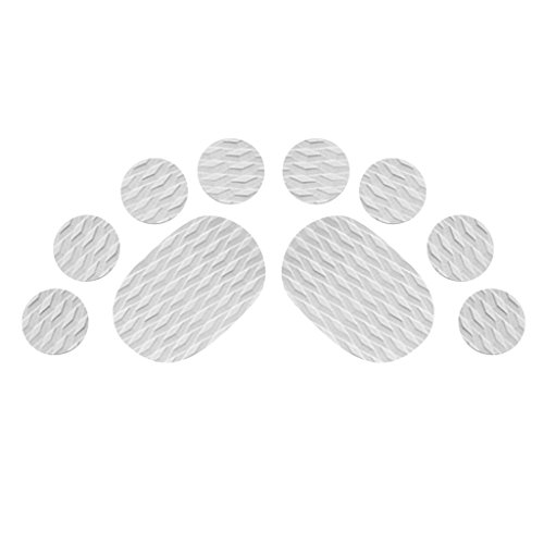 MonkeyJack 10 Pieces Diamond Grooved Grey EVA Deck SUP Traction Pad Grip for Dog Stand Up Paddleboard Surfboard - Self Adhesive & Non-slip by MonkeyJack (Image #2)