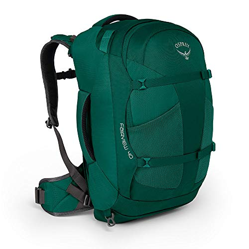 Osprey Packs Fairview 40 Women's Travel Backpack, Rainforest Green, Small/Medium