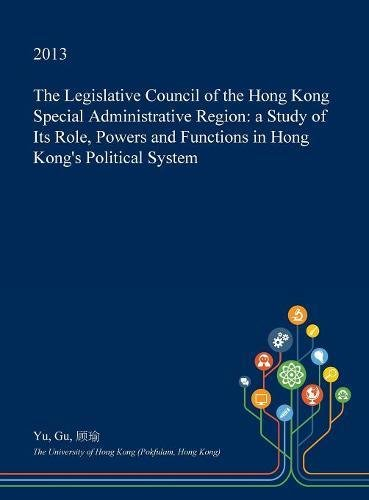 The Legislative Council of the Hong Kong Special ...