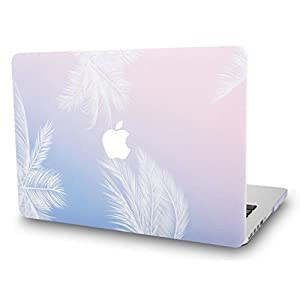 "KEC MacBook Pro 13"" Retina Case (2015) Cover Plastic Hard Shell Rubberized A1502 / A1425 (Blue Feather)"