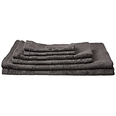 Pure Fiber Viscose Derived from Bamboo 6-Piece Bath Towel Set, Slate