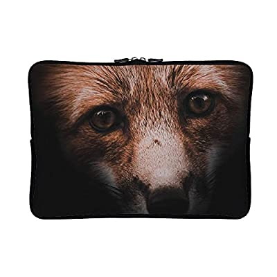 DKISEE Abstract Animal Fox Close Up Face Neoprene Laptop Sleeve Case Waterproof Sleeve Case Cover Bag for MacBook/Notebook/Ultrabook/Chromebooks
