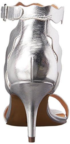 Scarpe Da Donna Cinese Vestito Da Rubino Sandalo Argento Metallizzato
