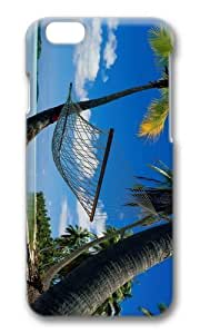 Adorable Beach Hammock Palms Hard Case Protective Shell Cell Phone Cover For Apple iphone 4 4s - PC 3D