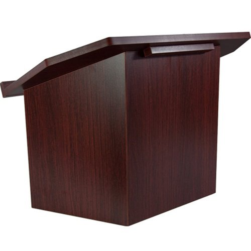 Folding Wood Lectern - Mahogany by Advantage