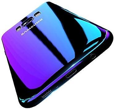 Funda Samsung Galaxy S8 PLUS, FLOVEME Ultra Fino Color Gradiente Enchapado Peso Ligero Material de PC Antideslizante Cubierta Protectora Transparente para Samsung Galaxy S8 PLUS (Púrpura) : Amazon.es: Electrónica