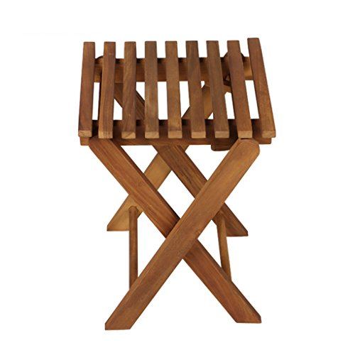 Outdoor Folding Chair Portable Fishing Chair Leisure Chair Solid Wood Stool Teak Color
