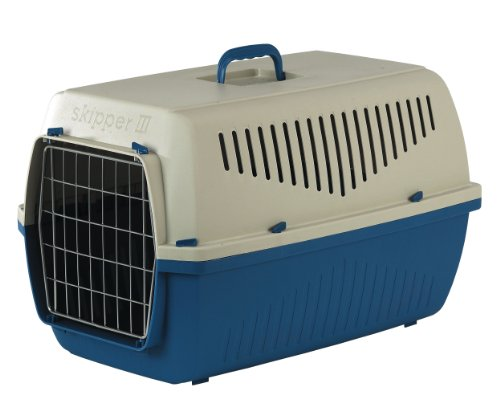 Marchioro-Skipper-1F-Pet-Carrier-Small-TanBlue