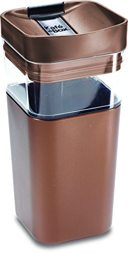Kafe in the Box, Splashproof and Ecofriendly Reusable Coffee Mug/Travel Mug by Precidio Design - 12 oz, Bronze (Design 12 Oz Ceramic Mug)