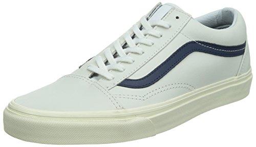 Herren Skateschuh Vans Old Skool Skate Shoes (matte leather) true whit