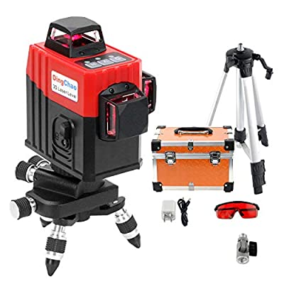 Dingchao 3 x 360 Self-Leveling Laser Level with Tripod/Stand,Micro-adjust base,Protective Glasses,Hard Case,360 Degree Three-Plane Laser Line Level Kit Laser Leveler Tripod Tools for Construction