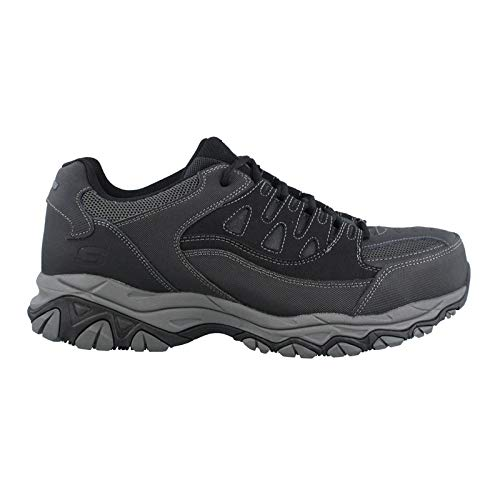 Skechers for Work Men's Holdredge Work Shoe, Black, 9 M US (Working Steel Toe Shoes)