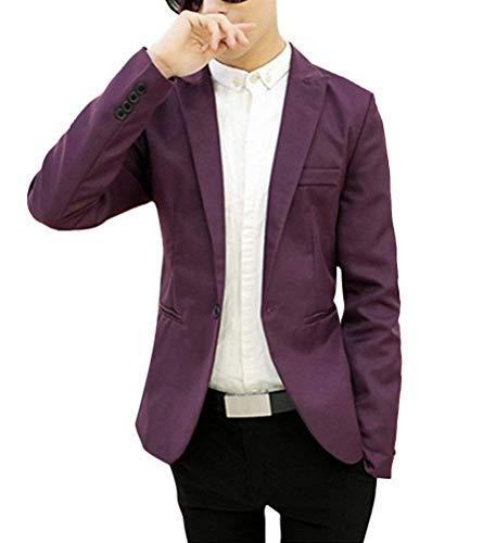 Botón Tamaños Cómodos Ocio Adolescente Chaqueta Estilo Ropa De Los Traje Schwarz Vestir Un Blazer Con Hombres xapCqvX