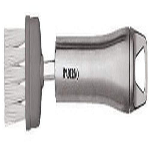 Paderno World Cuisine 8.875 Inch Stainless Steel Handled Nylon Pastry Brush