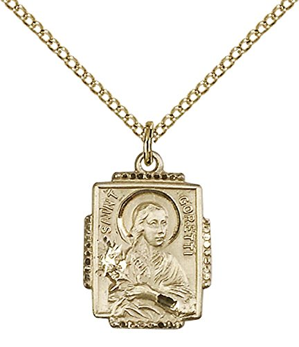 - 14kt Gold Filled St. Maria Goretti Pendant with 18