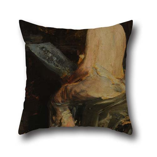 Throw Cushion Covers 20 X 20 Inch / 50 By 50 Cm(twin Sides) Nice Choice For Couples,office,divan,boy Friend,bedding,chair Oil Painting Severo RODRIGUEZ Etchart - Après La Pose