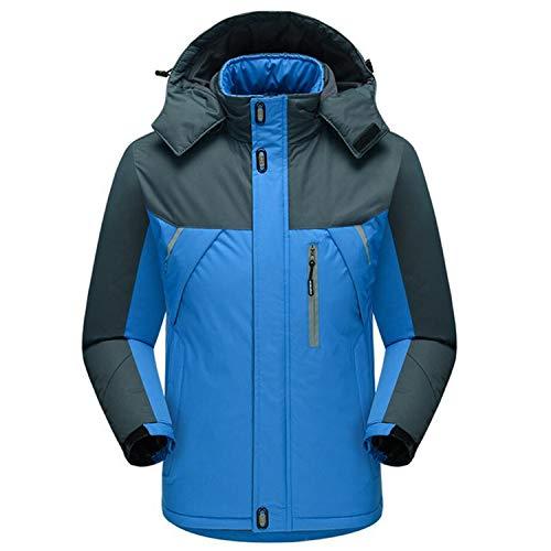 Functionaryb Giacca Casual Invernale Caldo Cappotto Cappotti Outwear Con In Thin Velluto Uomo Spesso Da Giacche Cappuccio Blue Termico Antivento Parka ggqa8dnr
