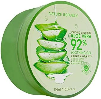Nature Republic Soothing & Moisture Aloe Vera 92% Gel, 300 Gram:  Amazon.co.uk: Beauty