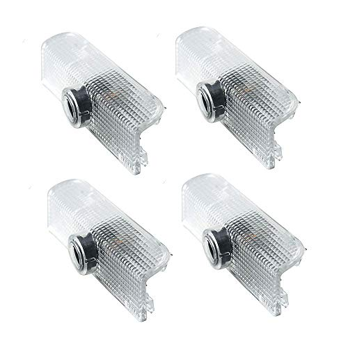 4pcs For Nissan Altima Armada Maxima Titan Quest Door Projector Lights Welcome Lights Logo Car Door Lamps Replacement Assembly Led Courtesy Step Lights 3W HD ()