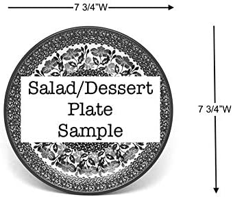Salad//Dessert - Blue Spring Daisy Polish Pottery Plate 7 3//4