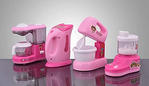 Lution Battery Operated Pack of 4 Pieces Household Home appliances Play Set for Girls with Realistic Sound -Washing Machine,Sewing Machine,Vacuum Cleaner,Fan,Hair Dryer etc- 41nPuRlltcS India 2021