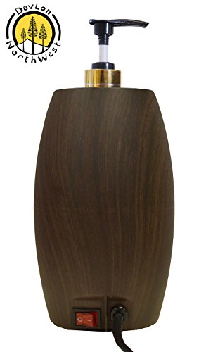 Massage Oil Warmer (Massage Oil Warmer Lotion Warmer with Bottle Compact Design Dark Wood)