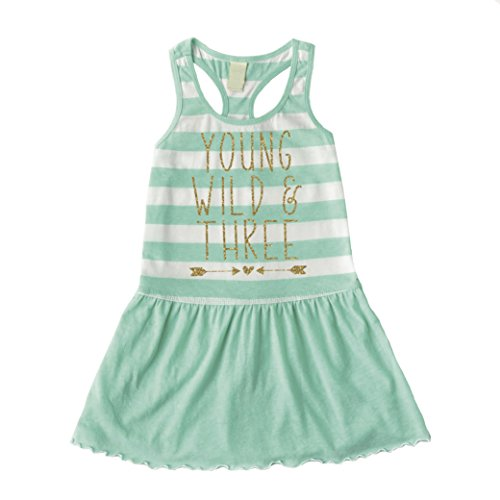 Bump and Beyond Designs Third Birthday Outfit Girl Three Year Old Birthday Dress (3T)