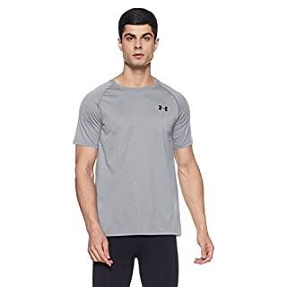 Under Armour Men's Tech Short Sleeve T-Shirt, True Gray Heather /Black, XXX-Large